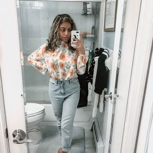 Forever 21 Contemporary Floral Blouse
